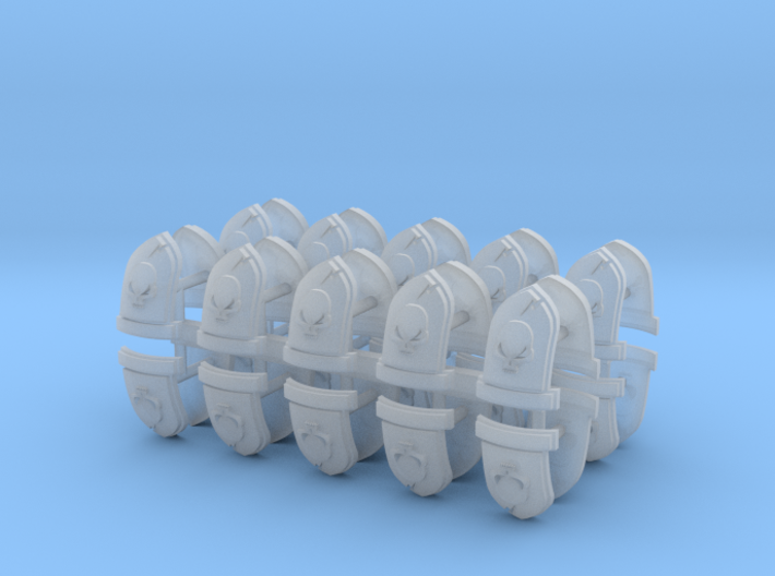 Commission 27 Shoulder Pad icons #1 x40 3d printed