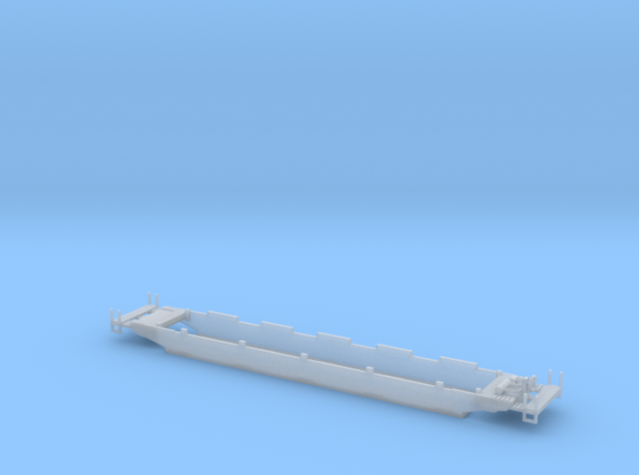 Deep Well ContainerCar 3d printed Deep well car Z scale
