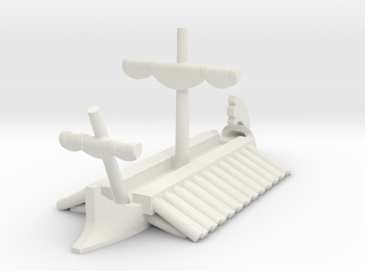 1/1200 Greek Trireme Game Pieces 3d printed