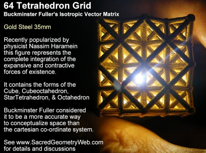 64 Tetrahedron Grid 45mm 3d printed