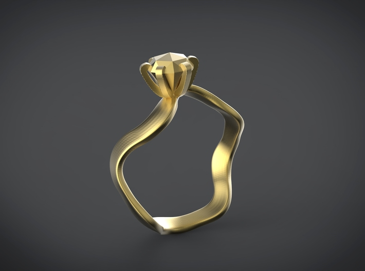 waved engagement ring 3d printed