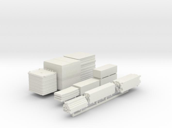 Construction Yard Lumber Materials Sprue 3d printed