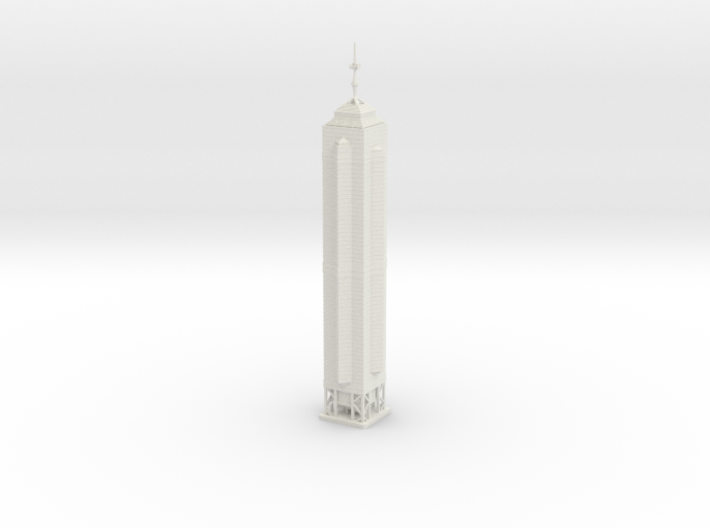 The Centre (1:2000) 3d printed Assembled model.