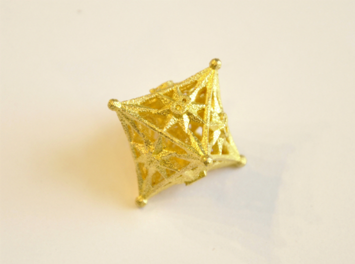 D8 Balanced - Radiant 3d printed Matte Gold Steel - No longer available