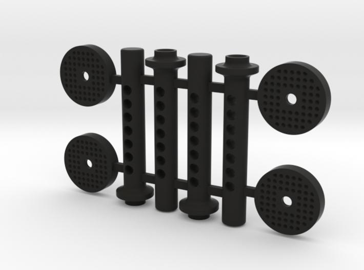 JK17019 SCX10ii Magnet mount plates small 3d printed