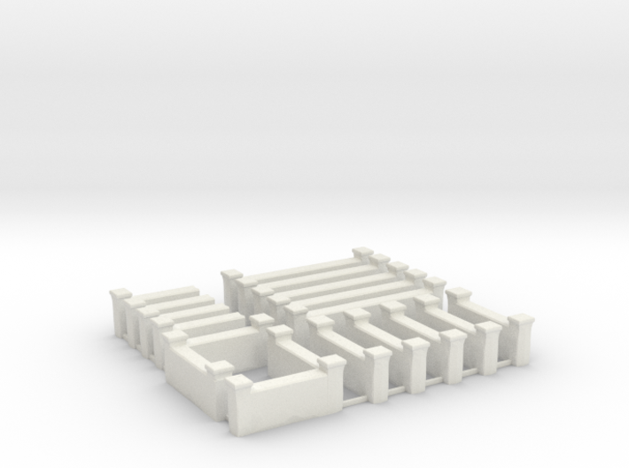 Arabic Brick Wall Sprue 3d printed