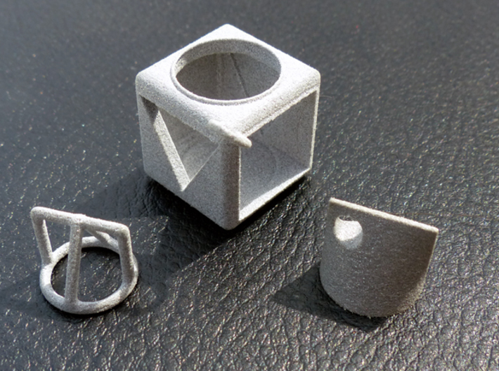 Shape Sorter Circle, Triangle Square Pendant 3d printed Box and Solid Pendant available separately