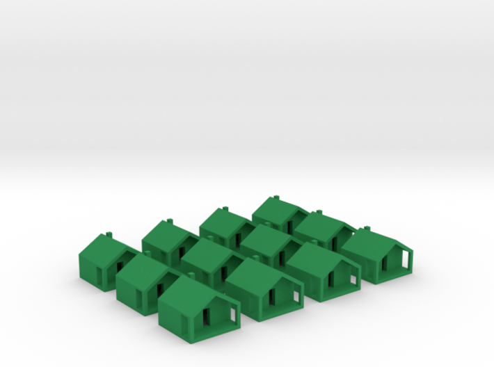 Monopoly Cottages x12 3d printed