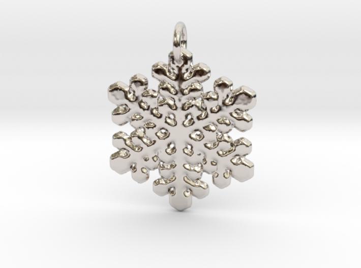 Snowflake Pendant 1 3d printed