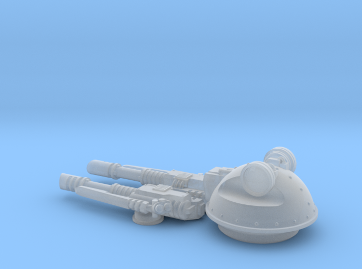 V1A Linebacker: Twin Laser Cannon Turret 3d printed