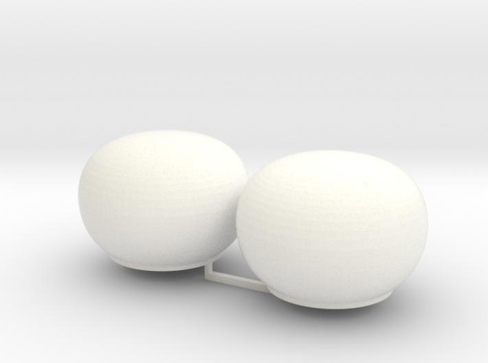 2x Satcom dome 1/72 3d printed