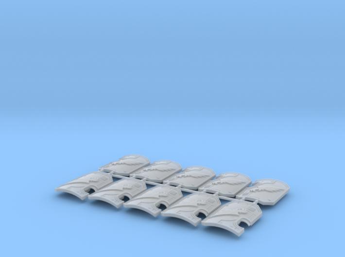 10x Emperors Legion 2- Marine BdShields w/Hand 3d printed