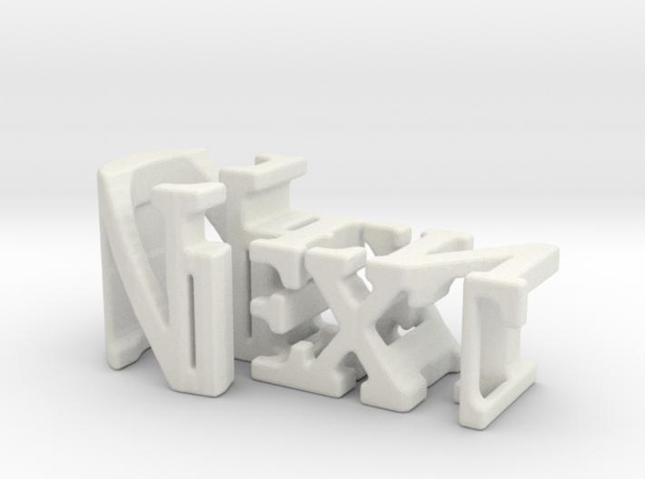 3dWordFlip: Next/Gen 3d printed