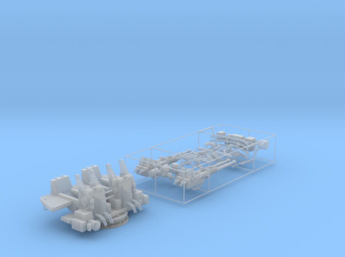 Best Detail 1/35 40mm Bofors Quad Mount KIT 3d printed