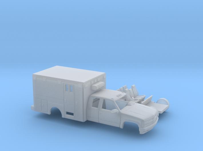 1/160 1990-98 Chevy Silverado ExtCab Ambulance Ki 3d printed