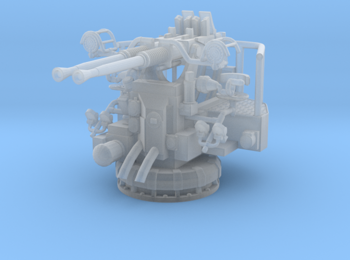 1/350 USN 40mm Bofors Twin Mount Set x3 3d printed