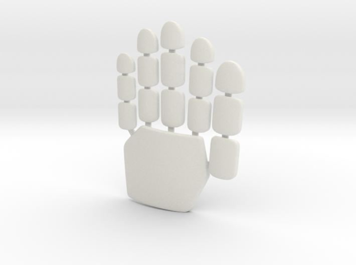 Daft Punk glove plates - left hand 3d printed