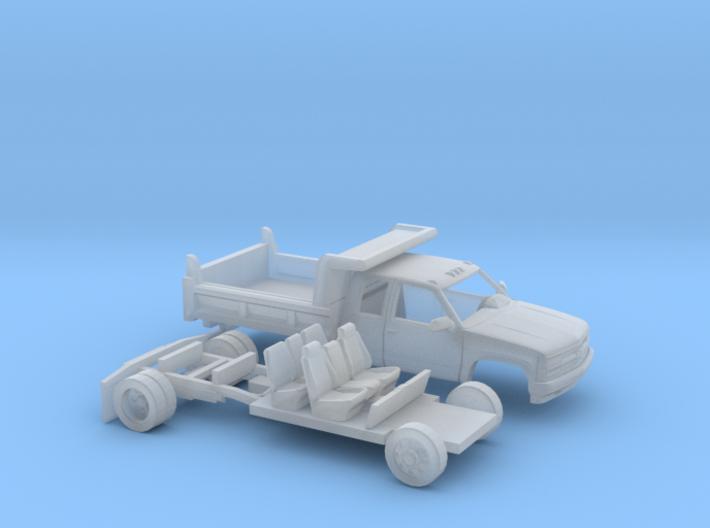 1/87 1990-98 Chevy Silverado Extended Cab DumpKit 3d printed