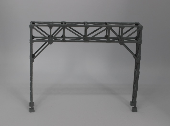 N Scale Signal Bridge Gantry 2 tracks 2pc 3d printed Painted model