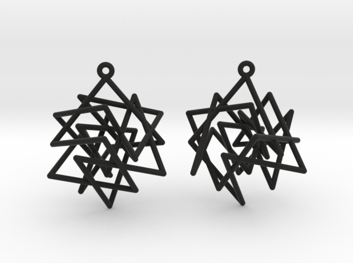 Knight's Tour Cube Earrings 3d printed