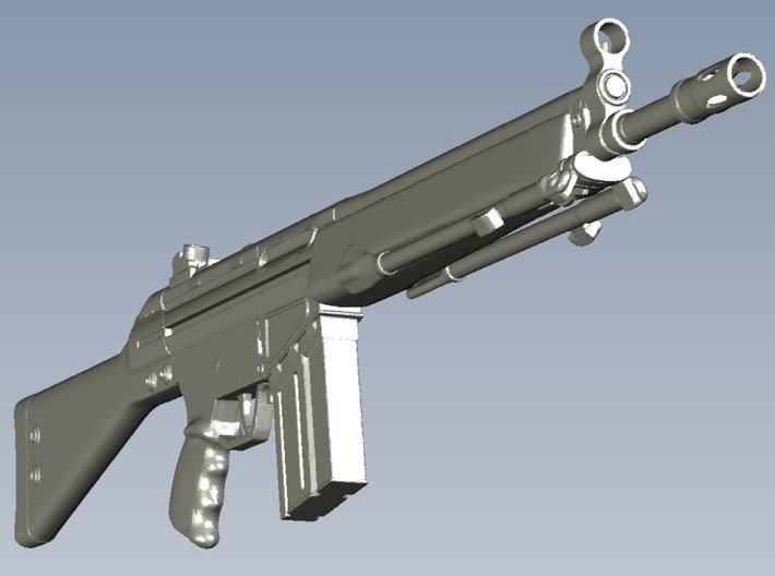 1/10 scale Heckler & Koch G-3A3 rifles A x 3 3d printed