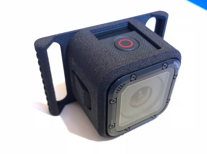 GoPro Session mount adapter for Smooth Q gimbal  3d printed Actual print ( Black Strong & Flexible)
