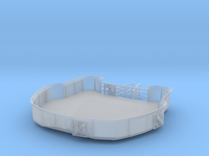 1/200 DKMScharnhorst Admiral's Bridge 1 3d printed