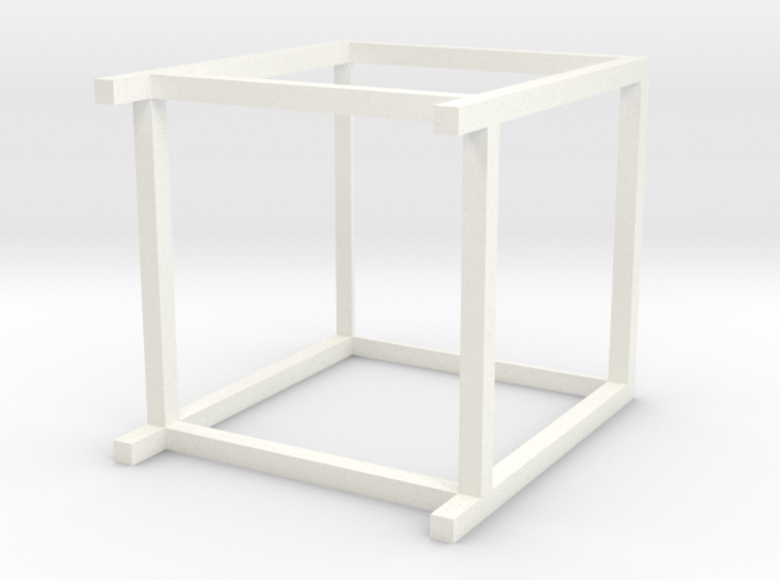 Lounge Table square, high, 1:12 3d printed