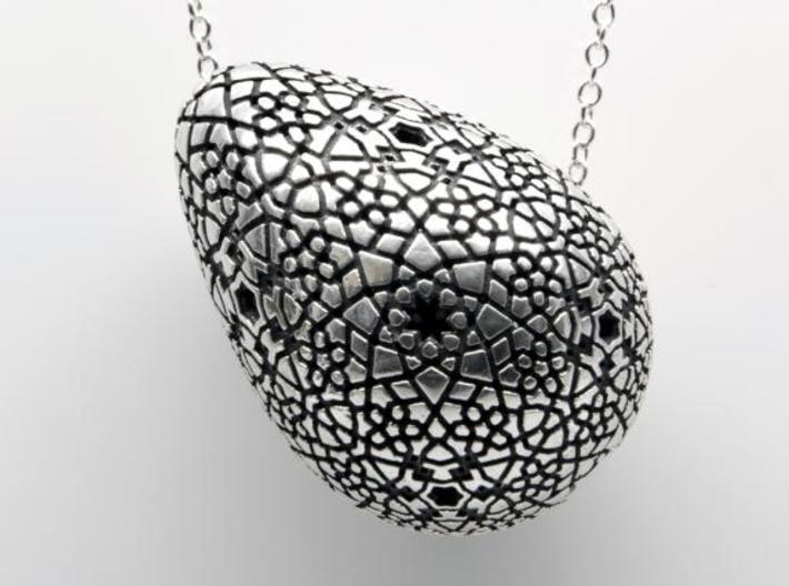 Erasmo Pendant Necklace - Silver 3d printed