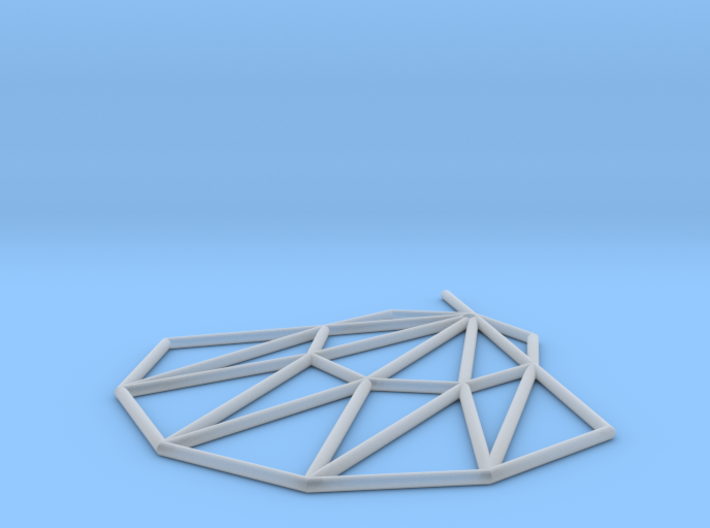 Low poly Doyenne Earring 3d printed