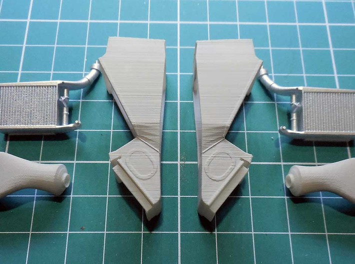 late version intercoolers for the 1/20th McLaren M 3d printed