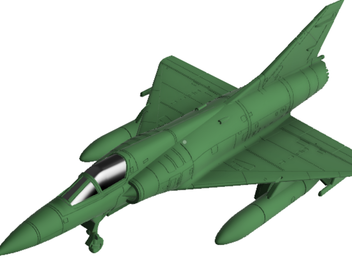 020O Mirage IIIEA 1/87 with Tanks and R530 3d printed