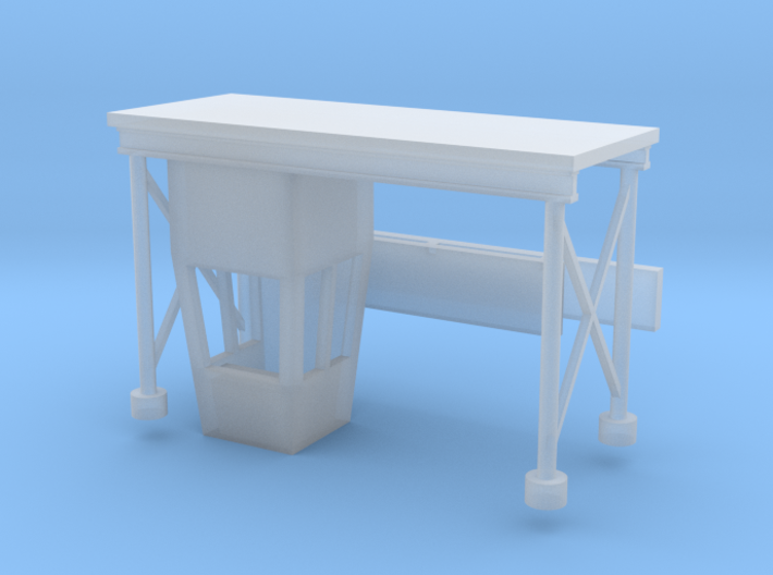 'N Scale' - Drive-In Movie Theatre Ticket Booth 3d printed