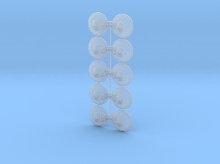 10x Skull - Naxos Combat Shields 3d printed
