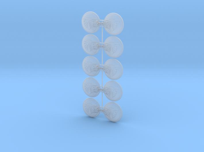 10x Drop & Wings- Naxos Combat Shields 3d printed