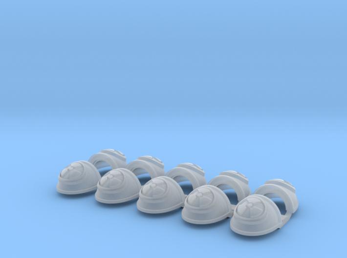 Radioactive- G4 Shoulder Pads x10 3d printed