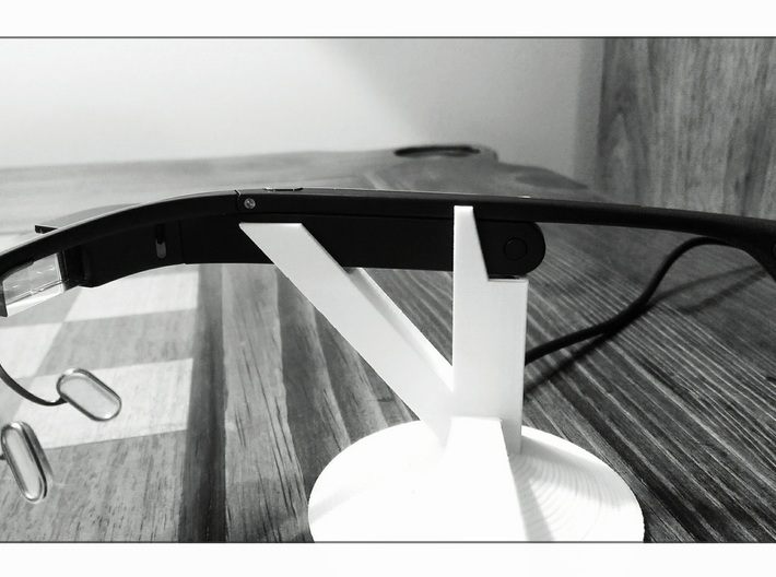 Google Glass Charging Stand 3d printed On/Off button accessible while on the stand