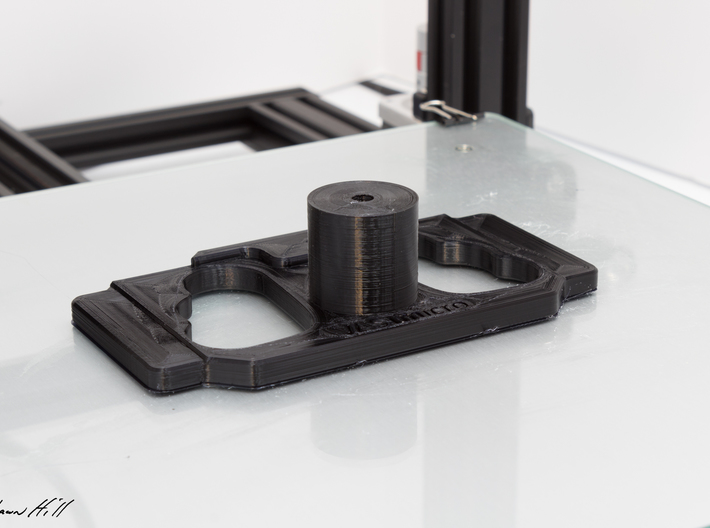 DJI Controller Phone / Tablet Mount Plate Insert 3d printed Completed PLA plate. This exact item is in use today.