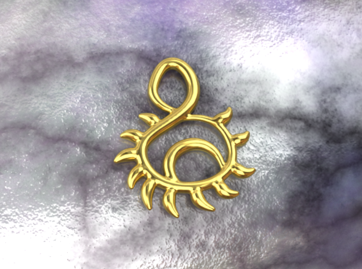 Sunset 3d printed gold material