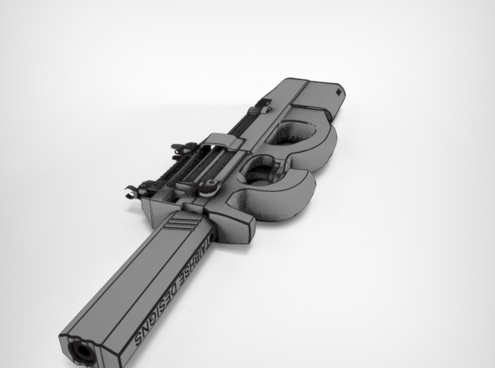 Airsoft silencer 140mm p90 3d printed