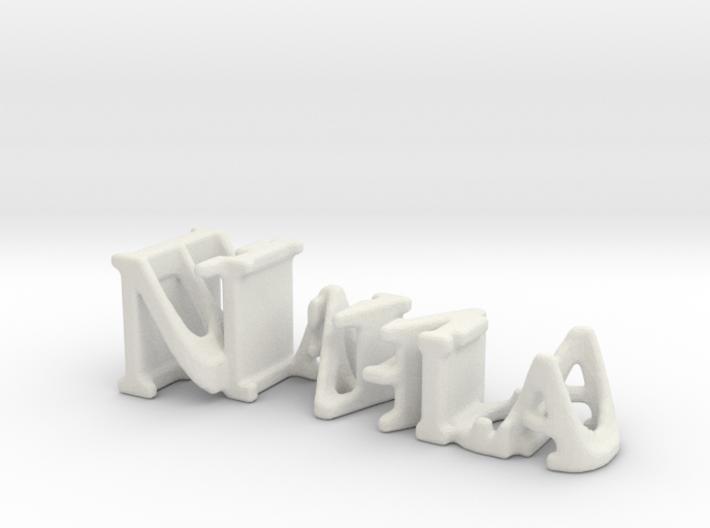 3dWordFlip: Nahla/Blanco 3d printed