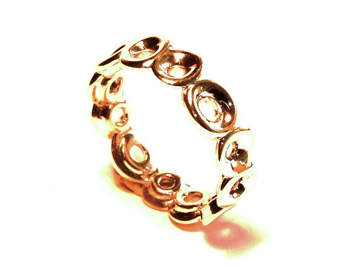 Seeside Ring (From $13) 3d printed anillo oro