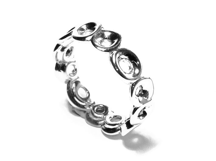 Seeside Ring (From $13) 3d printed silber schmuck