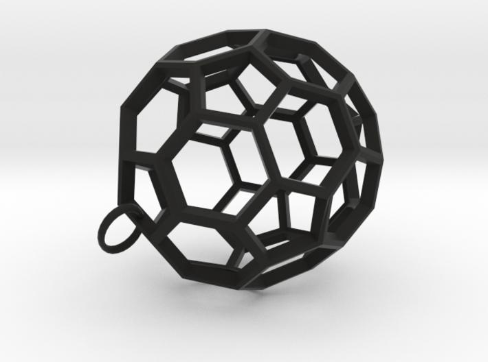 Buckyball Pendant 3d printed
