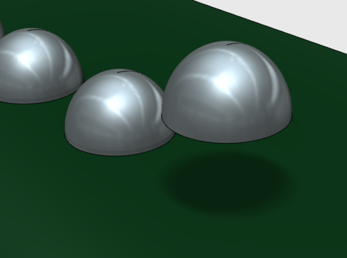 2mm Rivet Heads -Variety Pack 3d printed