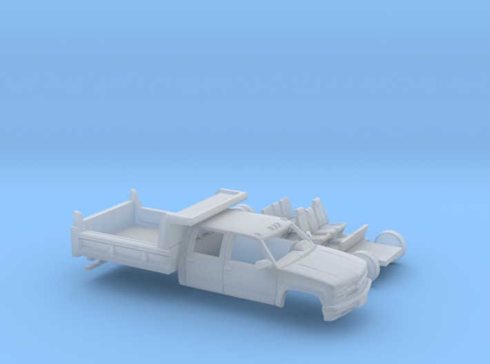 1/87 1990-98 Chevy Silverado CrewCab Dump Kit 3d printed