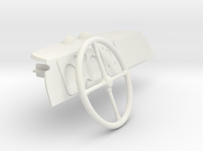 Dash-stuur 3d printed
