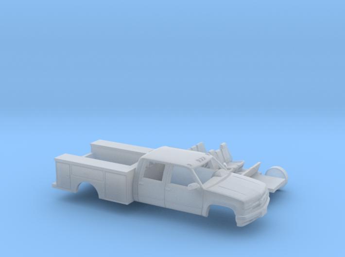 1/87 1990-98 Chevy Silverado CrewCab Utility Kit 3d printed
