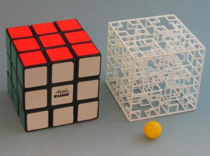 Minotaur's Castle 3d printed same size as Rubik's Cube