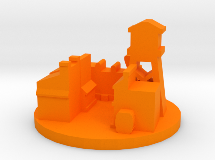 Game Piece, Wild West Town 3d printed